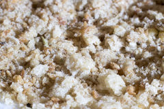Breadcrumbs. Closeup of breadcrumbs in low light Stock Photo