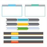 breadcrumbs menu zakładki Obraz Stock