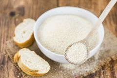 Free Breadcrumbs On A Wooden Spoon Close-up Shot; Selective Focus Royalty Free Stock Image - 159332296