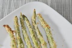 Breaded asparagus Stock Photo