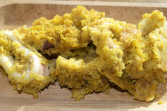 Breaded baked calamari Stock Images