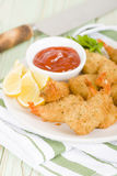 Breaded Butterfly Prawns Royalty Free Stock Photo