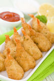 Breaded Butterfly Prawns Royalty Free Stock Photography