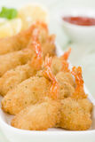 Breaded Butterfly Prawns Royalty Free Stock Images