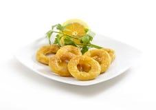 Breaded Calamari Rings Stock Photo