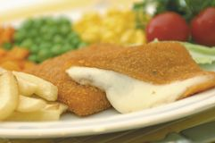 Breaded cheese royalty free stock photography