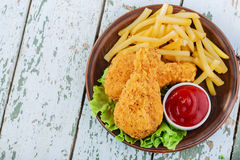 Breaded chicken drumstick Royalty Free Stock Image