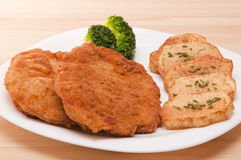 Breaded chicken fillet Royalty Free Stock Image