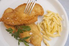 Breaded chicken fillet Royalty Free Stock Photography