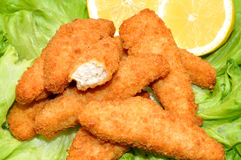 Breaded Chicken Goujons Royalty Free Stock Photos