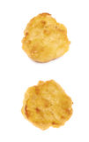 Breaded chicken nugget composition isolated Stock Image