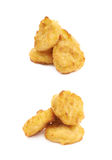 Breaded chicken nugget composition isolated Stock Photo