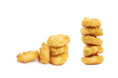 Breaded chicken nugget composition isolated Stock Photography