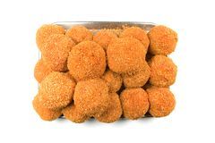 Breaded Chicken Nuggets Royalty Free Stock Images