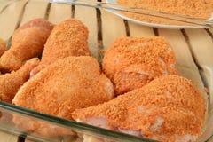 Breaded chicken Stock Photo