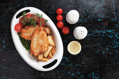 Breaded chicken steak Royalty Free Stock Photography