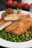 Breaded chicken steak Stock Photography