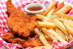 Breaded chicken strips Royalty Free Stock Images