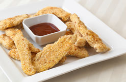 Breaded Chicken Tenders stock photo