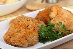 Breaded Chicken Thighs Stock Image