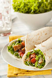 Breaded Chicken in a Tortilla Wrap Royalty Free Stock Photography