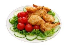 breaded coconut shrimp Stock Photo
