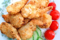 breaded coconut shrimp Stock Photos