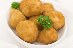 Breaded Deep Fried Mushrooms Stock Photos