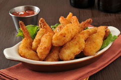 Breaded deep fried shrimp Royalty Free Stock Photography