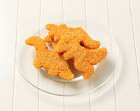 Breaded fish Royalty Free Stock Images