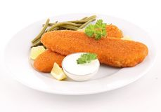 Breaded fish Stock Photos