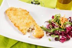 Breaded fish Stock Image
