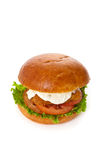 Breaded Fish burger Royalty Free Stock Image
