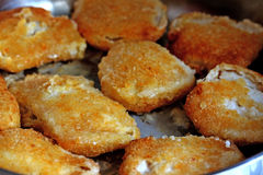 Breaded fish Stock Images