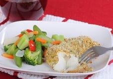 Breaded Fish Fillet Dinner Stock Photos
