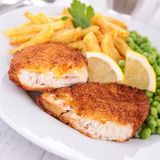 Breaded fish or meat Royalty Free Stock Image