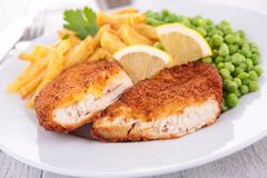 Breaded fish or meat Royalty Free Stock Images