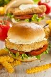 Breaded Fish Sandwich with Tartar Sauce Stock Photography