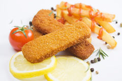 Breaded fish sticks Stock Photography
