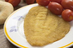 Breaded and fried sole fillet Stock Photo