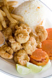 Breaded friend shrimp nicaragua style Stock Photography