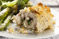 Breaded Homemade Chicken Cordon Bleu Royalty Free Stock Image