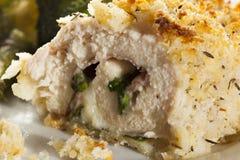 Breaded Homemade Chicken Cordon Bleu Royalty Free Stock Image