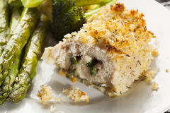Breaded Homemade Chicken Cordon Bleu Royalty Free Stock Photos