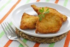 Breaded kurczak piersi zdjęcia stock