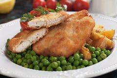 Breaded kurczaka stek Zdjęcie Royalty Free