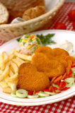 Breaded meat stock photography