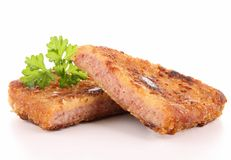 breaded meat Stock Image