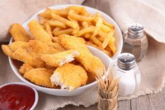 Breaded meat or fish Royalty Free Stock Image