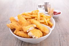 Breaded meat or fish Stock Photography